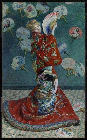 Claude Monet - La Japonaise (Camille Monet) - 1876