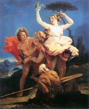 Giovanni Battista Tiepolo - Apollo and Daphne - c 1744
