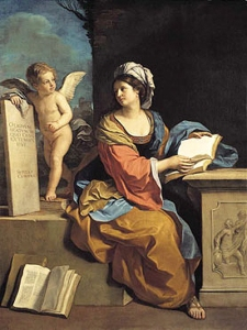 Guercino - The Cumaean Sibyl with a Putto - 1651
