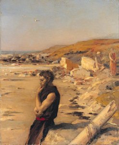 Jean Charles Cazin - Ulysses After The Shipwreck - 1880