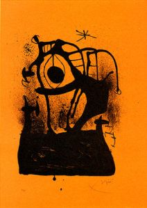 Joan Miro - Le Magnetiseur Orange - 1969