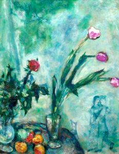 Marc Chagall - Les Tulipes Mauves