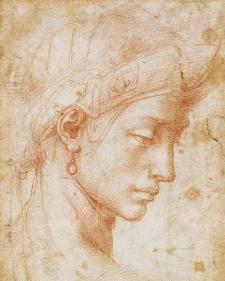Michelangelo Buonarroti - Viso Ideale - c 1512