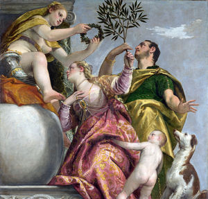 Paolo Veronese - Allegory of Love IV of 4 The Happy Union - c 1570