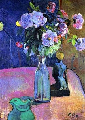 Paul Gaugin - Vase with Flowers - 1886