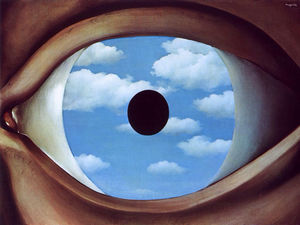 The False Mirror - Rene Magritte - 1928