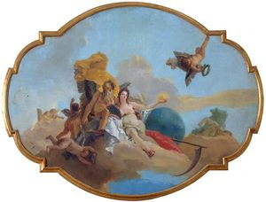 Giambattista Tiepolo - La Verità Svelata Dal Tempo - c 1745
