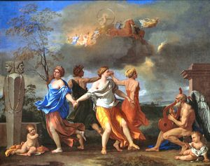 Nicolas Poussin - A Dance to the Music of Time - c 1640