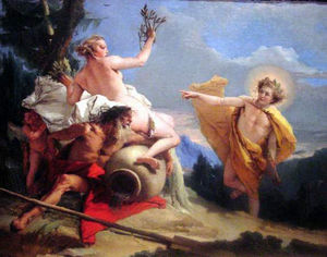 Giovanni Battista Tiepolo - Apollo Pursuing Daphne c 1755