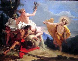 Tiepolo - Apollo Pursuing Daphne c 1755