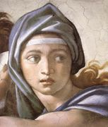 Michelangelo - The Delphic Sibyl (detail) - 1509